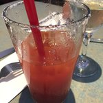 Bloody Mary served without celery, or any other veggies, and no spices either.