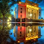 Courthouse after the rain, photo credit Bob Larson