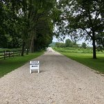 Path leading out of historic forestville towards other sites and paths.