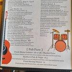 Concert menu
