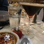 vanilla bean creme brulee and a coffee martini