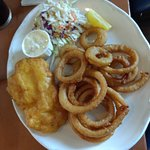 1-piece of cod with onion rings
