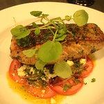Tasmanian Salmon, Tomato,Fetta & Olive Salad