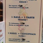 Prezzi gelato 🍦