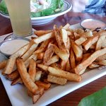amazing french fries with fry sauces