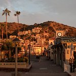 Morning sun in Avalon on Catalina Island