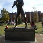 One of the Heisman Trophy Winner Statue