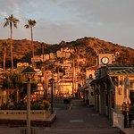 Sunrise glow on Catalina Island