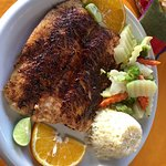 Blackened sea bass - delicious