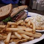 Stacked deli sandwich