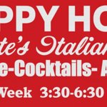 our daily happy hour