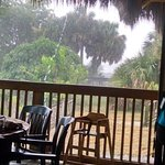 Torrential downpour just added to the cool beachy vibe