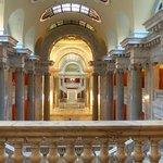 Inside, lots of marble