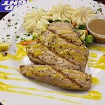 Grilled Ahi Tuna with Mango Rum Sauce