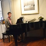 The have a piano player to offer live music