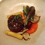 Aged beef (with the most delicious black garlic jus!)