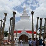 Ancient Pillars around the stupa