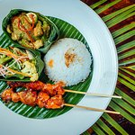 Green Curry Chicken and Chicken Satay