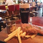 Great combination: Gunness and Steak!