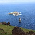 "Offshore ""Birdman Island"" at Orongo"