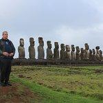 15 Moai on display at Tongariki.