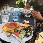 Omelett / salat / milkshake