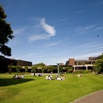 On sunny days, you will always find our students enjoying their lunch on the many green areas.