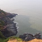 Cliffs above sea way to Gokarna Beach