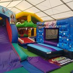 Bouncy Fun Play open in the Summer Holidays in Upton Country park - Bouncy Castle Area