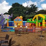 Bouncy Fun Play with Get Up and Bounce open in the Summer Holidays in Upton Country park castle