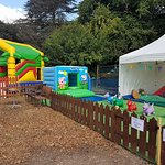 Bouncy Fun Play with Get Up and Bounce open in the Summer Holidays in Upton Country park inflata