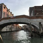 View through bidge along canal