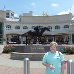 Famous Barbaro statue at entrance