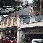 Streets in historical Melaka, Malaysia