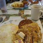 Looks good but French Toast was soggy which is very unusual for this place.