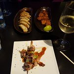Yakitori, karaage, and gyoza so delicious, we kept ordering them!