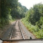 from the observation car, looking back.
