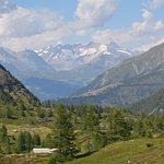Blick vom Simplonpass Richtung Schweiz