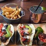 Fish tacos and the tenderloin salad