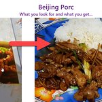 beijing pork, what they promote and what you get