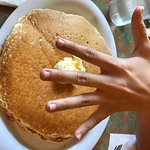 Pancakes are huge, enough for 2 people
