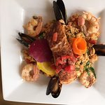 Special of the Day w Prawns, Mussles, Salmon, Rice & Vegetables