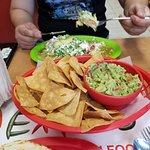 chips and Guacamole, and Enchiladas verdes