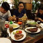 Tuna Steak and BBQ Pork Ribs