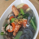 (Bamboo Charcoal) Yeap Noodle Soup with Seaweed