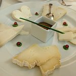 Tasting of five Italian cheeses with stewed fruit or vegetables
