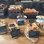Fantastic cakes, coffee and local produce at Ginger & Co. the cafe has a great artisan feel with