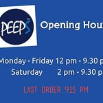 Opening hours😁😁