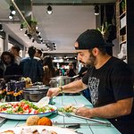 open kitchen with amazing belgian food