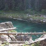 beautiful emerald clear water